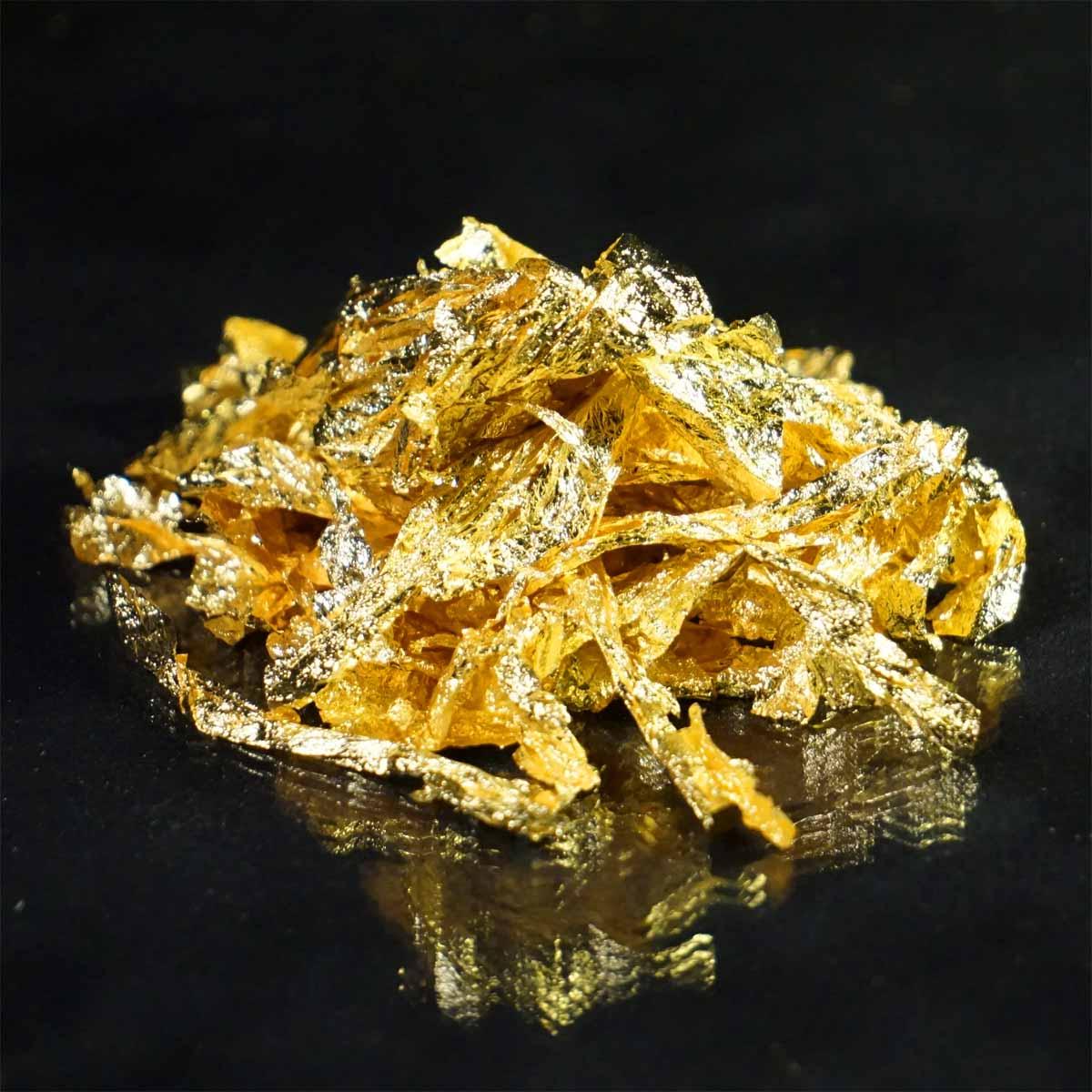 23.5K Gold Flakes (Large) - L.A. Gold Leaf Wholesaler U.S.